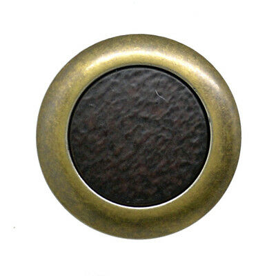 M38 XM70 23mm 36L 15mm Antique Brass Coloured Metal Leather Look Shank Buttons