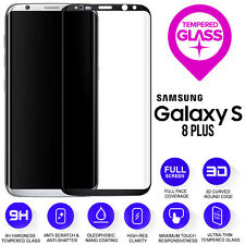 Samsung Galaxy S8 PLUS 3D Full Curved Tempered Glass LCD Screen Protection Black