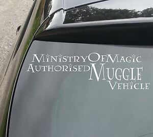 Details About Ministry Of Magic Muggle Vehicle Car Window Jdm Vw Dub Euro Vinyl Decal Sticker