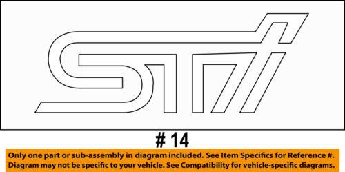 SUBARU OEM 15-16 WRX STI Trunk Lid-Emblem Badge Nameplate 93079VA040