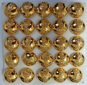 Genuine British Army The Life Guards Regiment Officers Dress Buttons 30L x25
