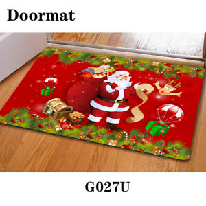 Welcome Christmas.Details About Doormat Santa Floor Rug Anti Slip Mat Indoor Porch Welcome Christmas Party Red