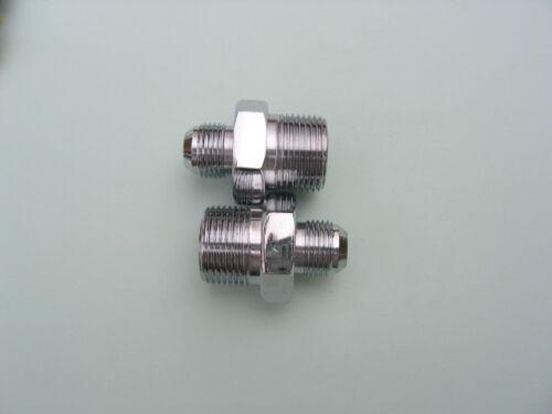 "2 pcs Lowrider Hydraulics fitting 3//4/""M to #8JIC straights Kit Chrome"