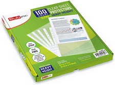Heavyweight Sheet Protectors Holds 85 X 11 Inch Sheets 925 X 1125 Inch Top