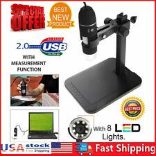8led 1000x 10mp Usb Digital Microscope Endoscope Magnifier Camera Lift Stand Us