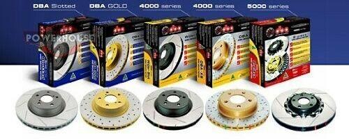 DBA 4655S-10 T-Slot Rotors for Subaru WRX STi 5x100 /& 5x114.3 bolt circle 2004