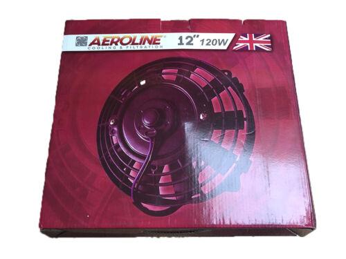 """12/"""" Aeroline ® 120 W Eléctrica Motor Radiador Ventilador de refrigeración 12 V delgada MGB 1976-81"""