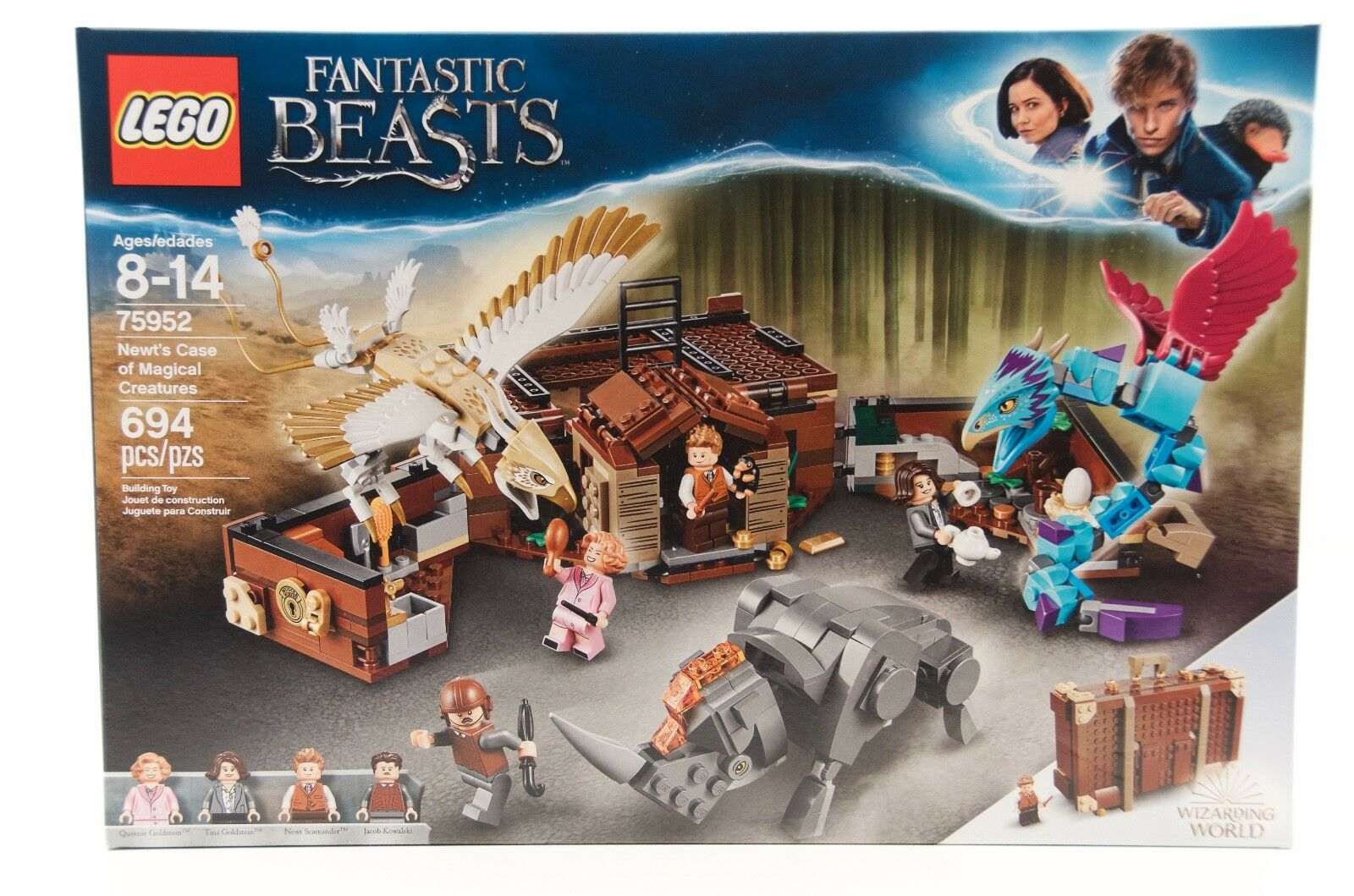 Lego FANTASTIC BEASTS 75952 Nuovot's Case of Magical Creatures 694 PCS Ages 8 & Up