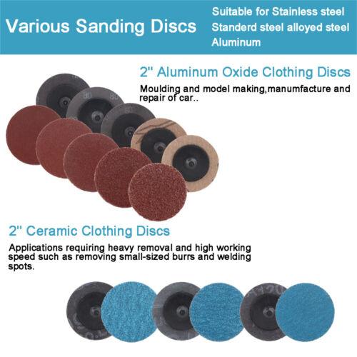 81Pcs//set 2/'/' Sanding Roloc Disc Roll Lock Surface Coarse Pads Polishing Kit NEW