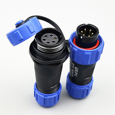 1Set SP13 6Pin IP68 Waterproof Cable Butt Circular Plug Socket Connector