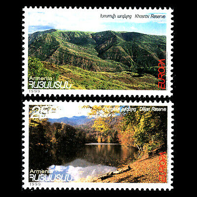 "Imported From Abroad Armenia 1999 Sc 589/90 Mnh Volume Large Europa Stamps ""nature Reserves And Parks"""