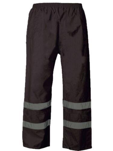 Peter//Scar Black Navy Hi Vis Visibility Viz Waterproof Over Trousers
