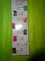 """CREATE 365 HAPPY PLANNER 10 PACK """"BINDER CLIPS / BOOKMARK / PAGE MARKERS"""""""
