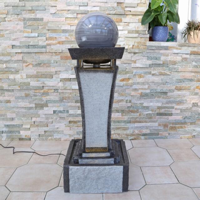 CLGarden Design Springbrunnen DSB4 Zimmerbrunnen Gartenbrunnen mit Kugel Granit