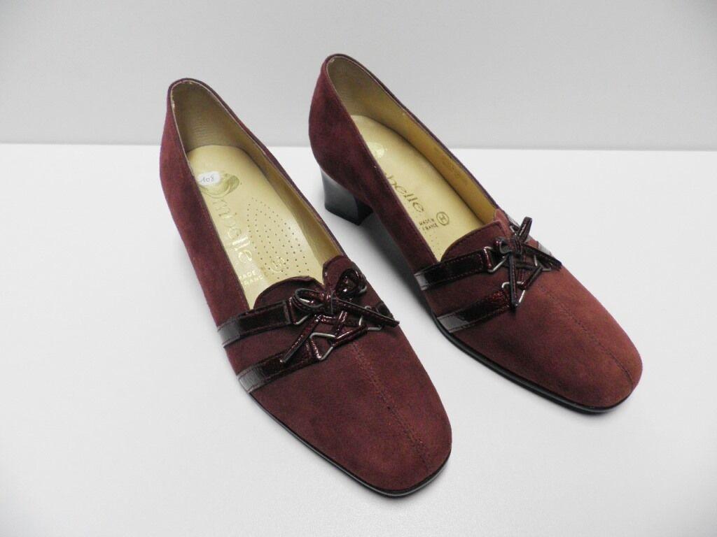 Chaussures escarpins OMBELLE rouge rouge rouge pour FEMME taille 36 cuir  -Modèle d'Expo- 3cef18