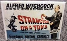 "Strangers on a Train Movie Poster 2"" x 3"" Refrigerator Locker MAGNET Hitchcock"