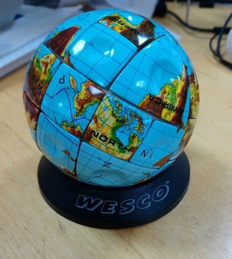 Used - Globe Terraqueo RUBIK's cube - Steel - Metal Earth RUBIK - Very rare