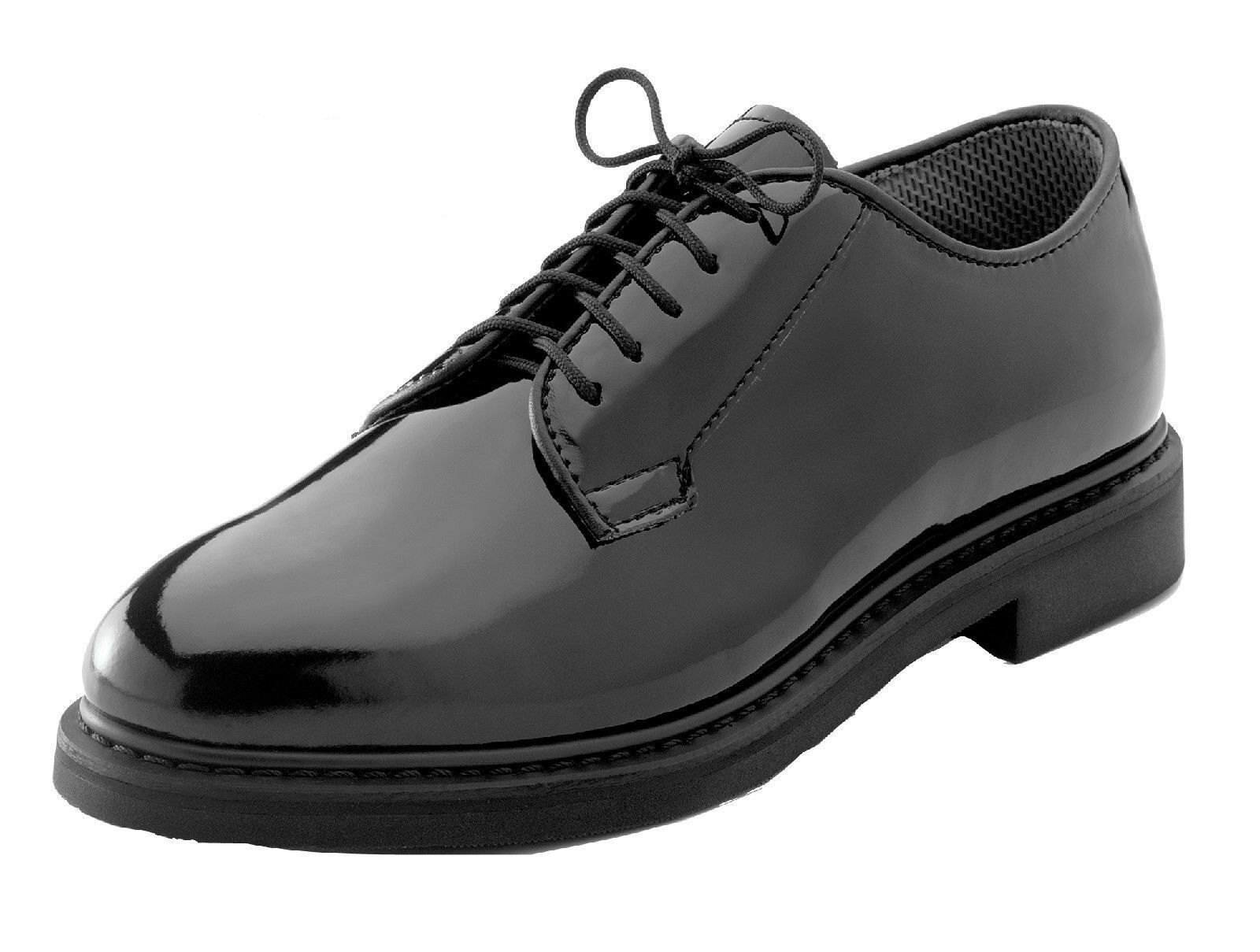 oxford dress shoes uniform various high gloss black rothco 5055 various uniform sizes 9ca443