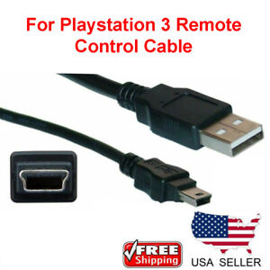 Wireless-Controller-Remote-Control-USB-Charger-Cable-Cord-For-Playstation-PS3