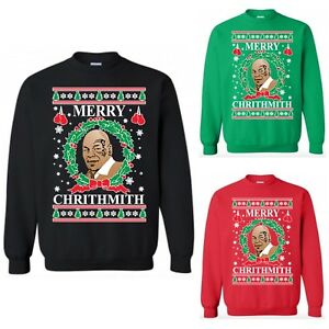 Mike Tyson Merry Chrithmith Crewneck Sweatshirt Ugly Christmas