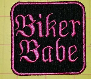 Biker-babe-motorcycle-biker-embroidered-vest-patch-iron-on-custom-made-New