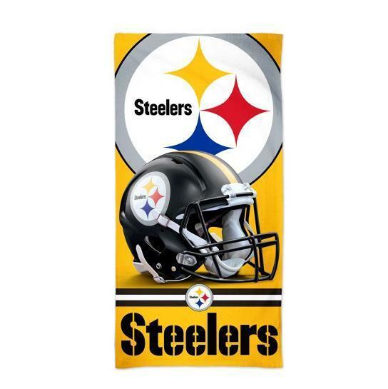 Pittsburgh Steelers NFL Football Beach Towel, Bath Towel Helmet Logo