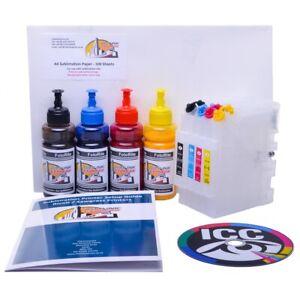 Details about Dye Sublimation ink cartridge bundle Fits Ricoh GC21 GC31  GC41 FREE ICC Profile