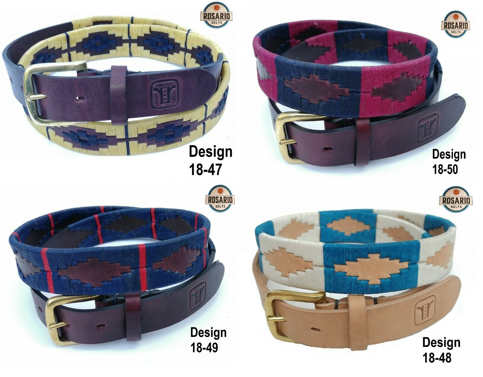 Polo Belt silverinian Gaucho Brown Leather Belt PLUS FREE KEYRING