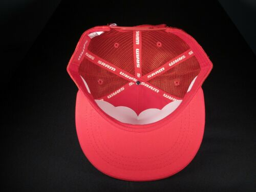"""Sram baseball cap all RED trucker style with snapback /""""since 1987/"""""""