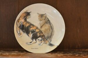 ROYAL-DOULTON-Kikko-amp-Rosie-The-Royal-Mail-Cats-Plate-1651