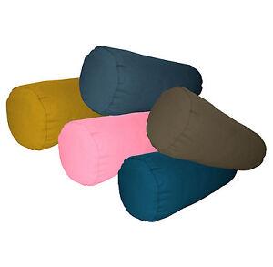 aa-Plain-Color-Cotton-Canvas-Yoga-Neck-Roll-CASE-Bolster-Cushion-COVER-Cust-Size
