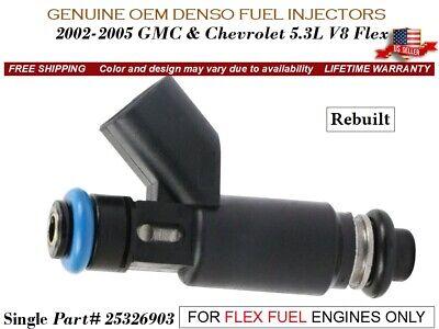 1x OEM Denso Fuel Injector for Chevrolet /& GMC 5.3L V8 Flex Fuel Part# 25326903