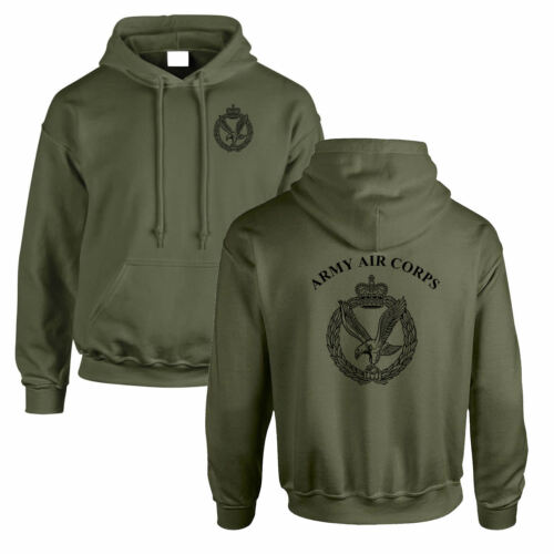 Double Sided Printed Army Olive Green hoodie HM RTR Para REME RGR RAMC RE PWRR