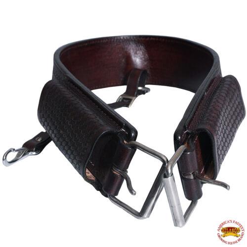 C-I106 Hilason Horse Western Leather Back Rear Cinch Flank Girth