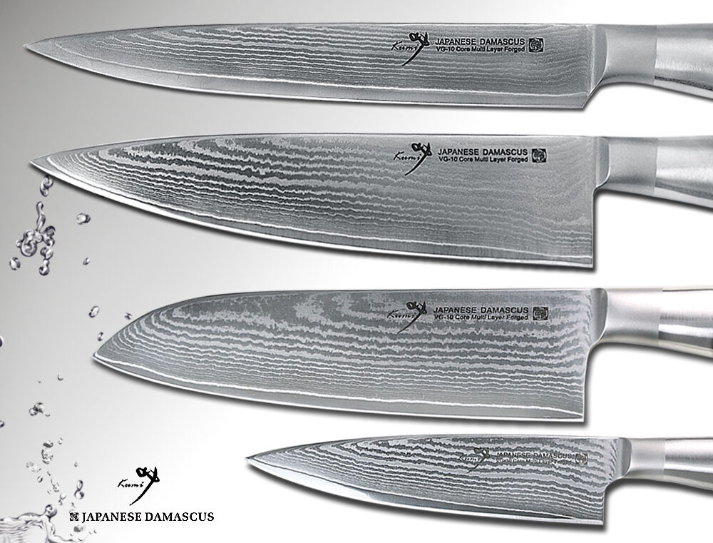 NEW Japanese Damascus Chef, Santoku, Fillet, Small Chef's Knife Series Set