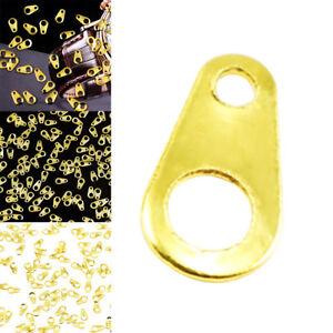 100pcs Ladies Nail Art Decor Retro Punk Zipper Head Easy Pull Ring