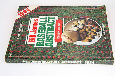 Bill James Baseball Abstract 1984 - 3nd Year Published Season Rare First Edition