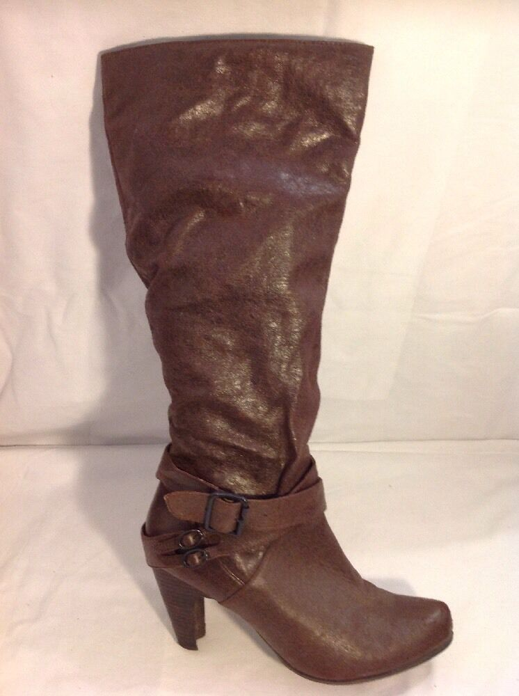 Asos Brown Knee High Boots Size 8