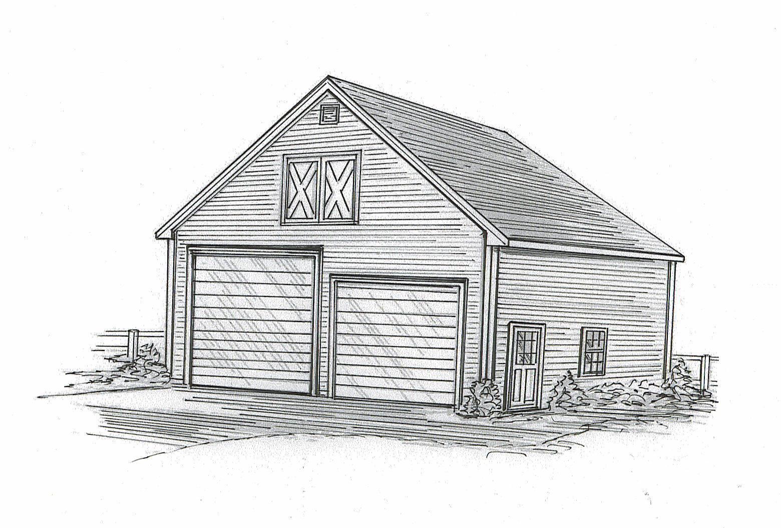 30 x 40 Two Bay FG  RD RV Garage Building Blauprint Plans