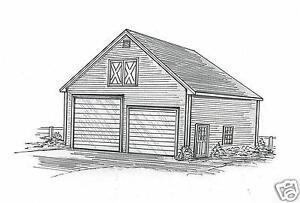 30 x 40 two bay fg rd rv garage building blueprint plans for 24x26 garage plans