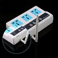 3 Sockets Remote Control Wireless Mobile Phone Gsm Sim Smart Socket Switch Ww