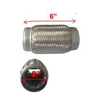 "2"" X 6"" Exhaust Muffler Flex Pipe WOVEN FLEXIBLE TUBE EXHAUST PIPE TUBE"