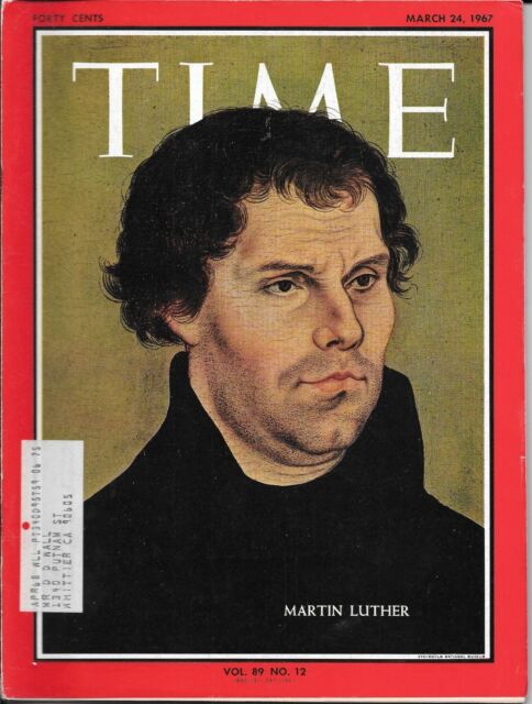 Time Magazine, March 24, 1967. Martin Luther, Crime & the Great Society. Smoking
