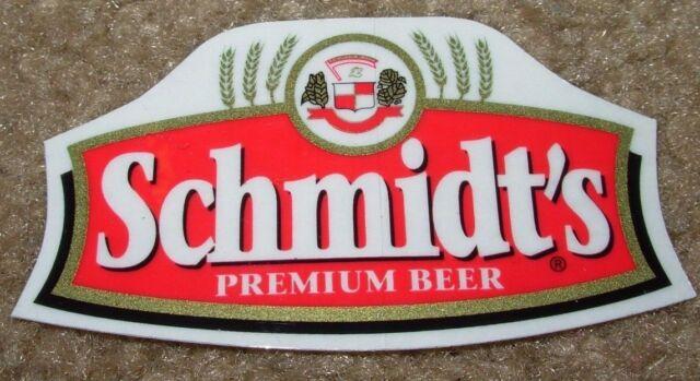 SCHMIDTS Genuine Draft Logo pabst STICKER decal craft beer brewing brewery