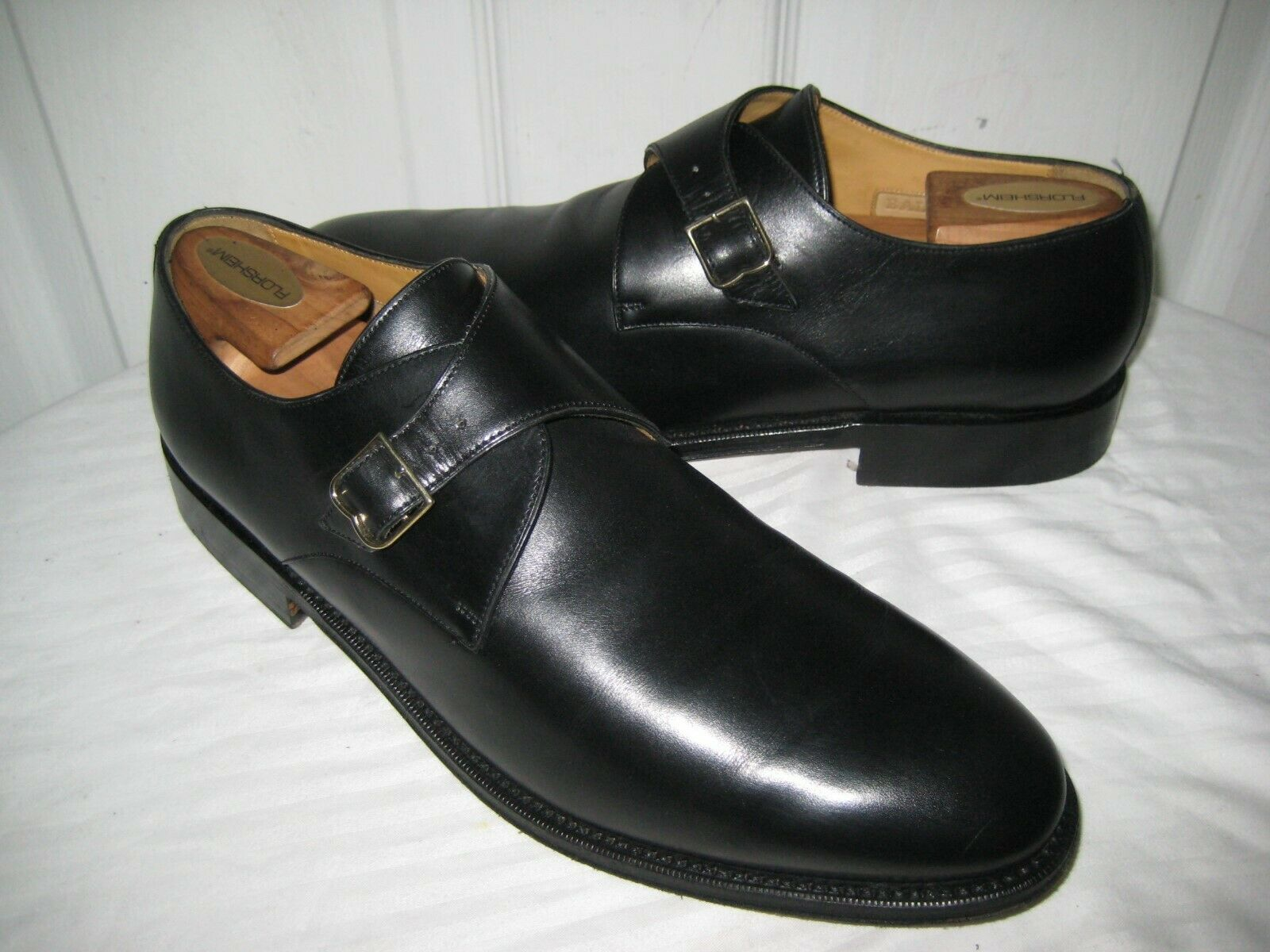 BALLY BALLY BALLY nero  Leather  Monk Strap scarpe US Men Dimensione 10.5 Made In Switzerland. 4f74fd