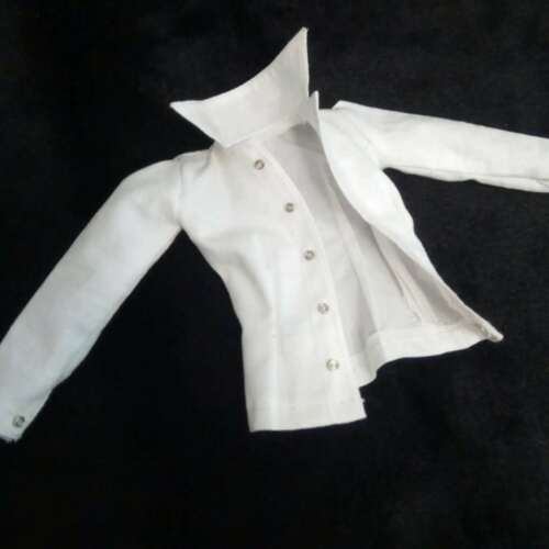"1:6th Female White Long-sleeved shirt For 12/"" TBLeague Phicen Large Bust Body"
