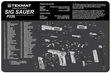 TEKMAT SIG SAUER P226 9MM PISTOL GUN CLEANING GUNSMITH BENCH LAP TOP MAT NEW