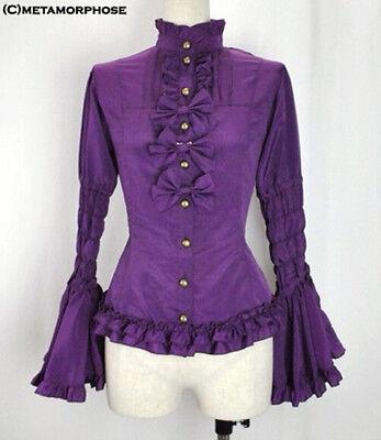Ladies Gothic Ruffles Sweet Lolita Princess Cosplay Blouse Shirt Tailor Made