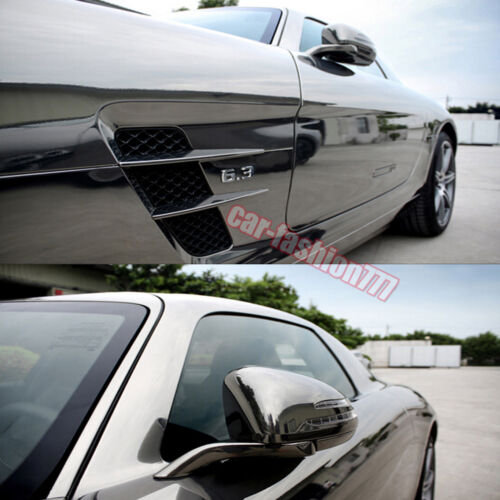DIY Glossy Mirror Chrome Vinyl Sticker for Car Phone Laptop Wrap CF All Sizes