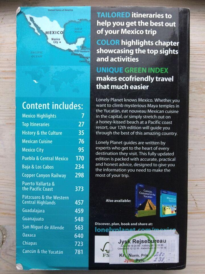 Mexico, Lonely planet, emne: rejsebøger